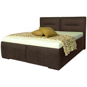 Čalouněná postel Ilona Pl: 180/200cm, Tmavě Hnědá
