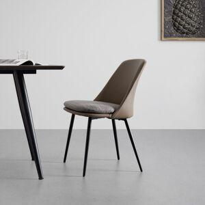Jídelní Židle Bianca Pravá Kůže Hnědá