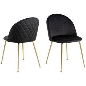 Luxusní Židle Louise Černá