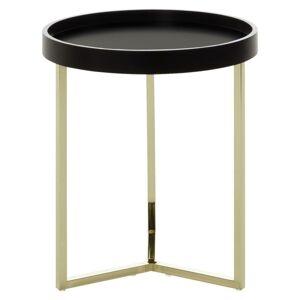 Odkládací stolek Eva Zlatý/černý