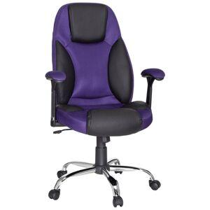 Otočná Židle Imola Černá/fialová