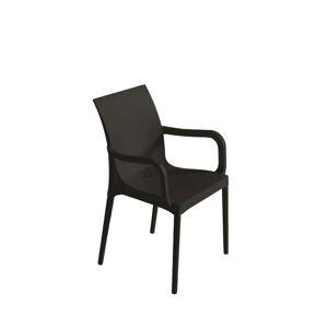Plastová Židle s područkami Eset Tmavě Šedá
