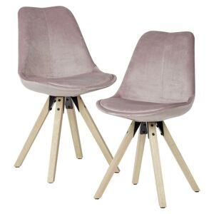Sada Jídelních Židlí Růžová