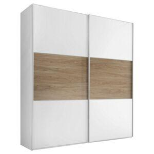 Skříň S Posuvnými Dveřmi Includo 200 Cm Bílá/puccini