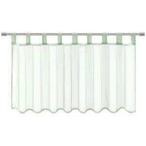 Záclona Krátká Hanna, 145/50 Cm, Zelená