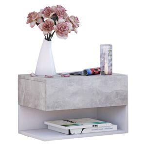 Závěsný Noční stolek Dormal Dekor Beton/bílá