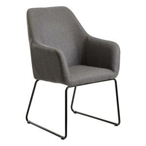 Jídelní Židle s područkami Esszimmerstuhl Tmavěšedá