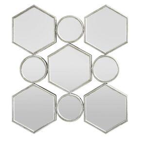 Zrcadlo Beni stříbrná Antik
